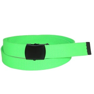 CTM® Plus Size Adjustable Neon Fabric Web Belt - one size