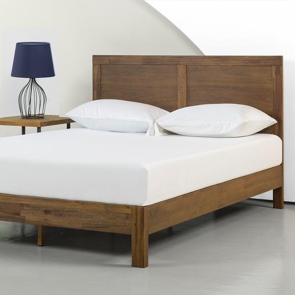 Priage by ZINUS Brown Wood Platform Bed Frame. Opens flyout.