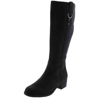 Hush Puppies Womens Emel Overton Leather Knee-High Riding Boots