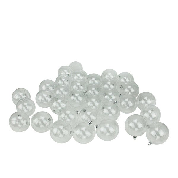 "32ct Clear Shatterproof Christmas Ball Ornaments 3.25"" (80mm)"