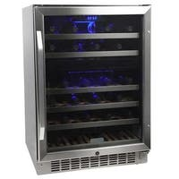 EdgeStar CWR461DZ 24 Inch Wide 46 Bottle Built-In Wine Cooler with Dual Cooling Zones