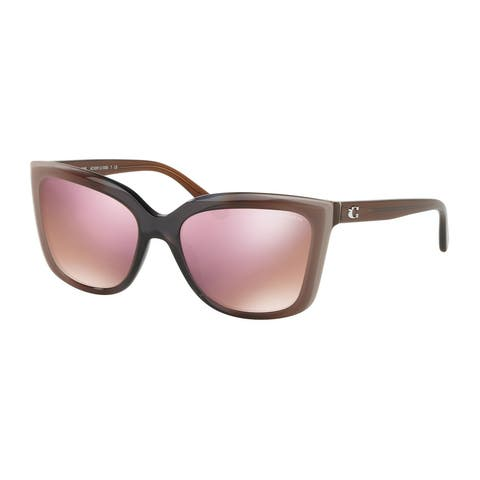 Coach HC8261 55345R 56 Taupe Laminate Woman Square Sunglasses