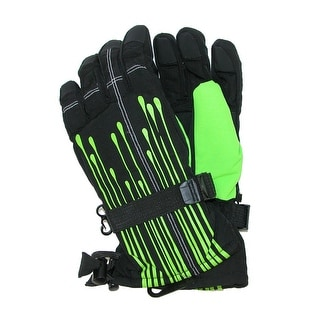 Grand Sierra Boys' 4-7 Paint Drip Snowboard Gloves - One Size