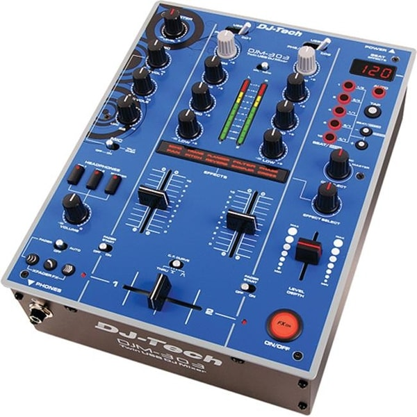 FIRST AUDIO MANUFACTURING DJM303BLUEEDITIO Twin USB DJ Mixer - Blue