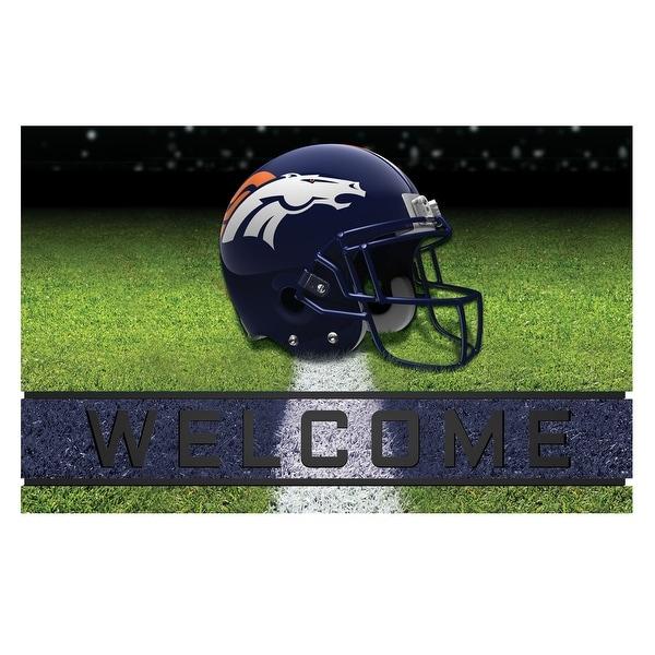Shop Nfl Denver Broncos Heavy Duty Crumb Rubber Door Mat