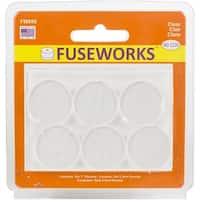 "Fuseworks 1"" Round Pack 6/Pkg-Clear"