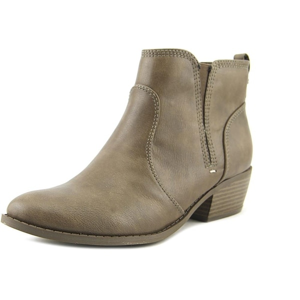 G By Guess Towny Women Round Toe Leather Brown Bootie