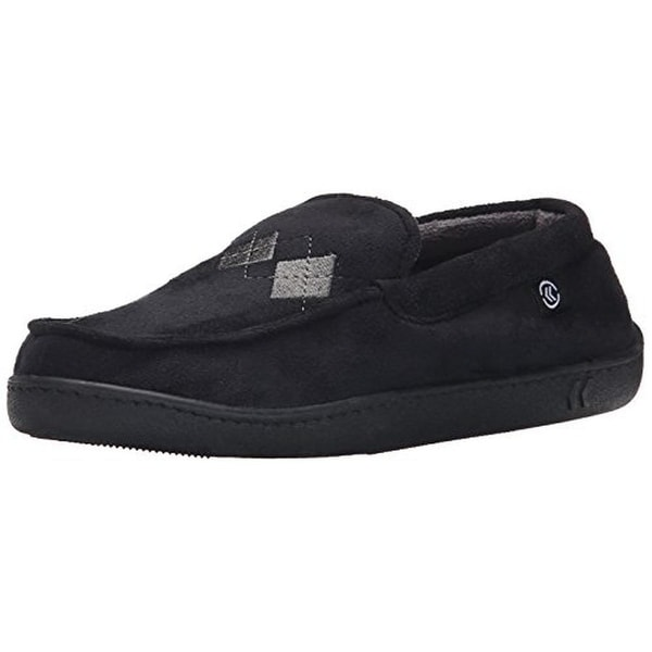 Isotoner Mens Moccasin Slippers Midcrosuede Thinsulate