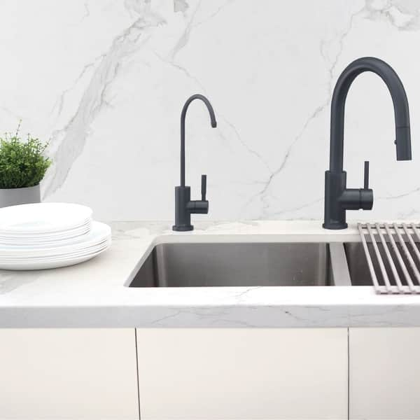 Kitchen Sink Drinking Water Faucet Commercial Water Filtration Faucet Stainless Steel Contemporary Style High Spout Overstock 32157238