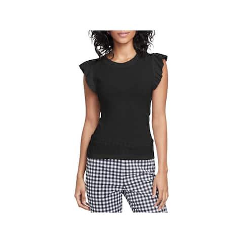Rachel Rachel Roy Womens T-Shirt Tie Back Ruffle Sleeves