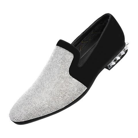 Amali Men's Smoking Slipper with Spiked Heel Dress Shoe
