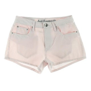 Dollhouse Womens Juniors Denim Shorts High Waist Stretch