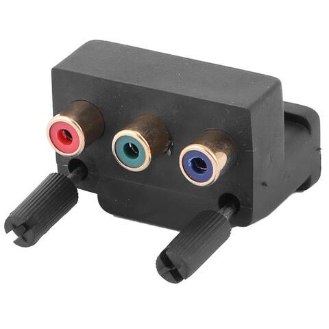 Unique Bargains DVI 24+5 Pin Male to 3 RCA Female M/F AV Connector Converter