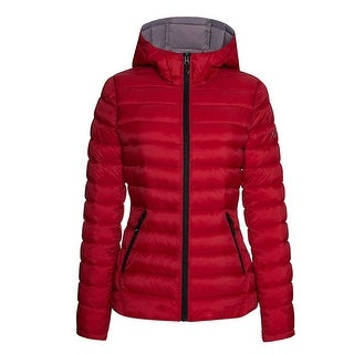 Link to HFX Womens Lightweight Packable Jacket, Red/Silver L Similar Items in Women's Outerwear