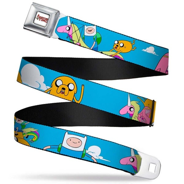 Adventure Time Logo White Full Color At Adventure1 In Clouds Webbing Seatbelt Belt