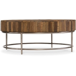 """Hooker Furniture 5950-80110-MWD  44"""" Diameter Hardwood Coffee Table from the L'Usine Collection"""