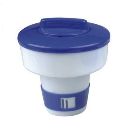 "7"" Classic Blue and White Floating Swimming Pool Chlorine Dispenser"