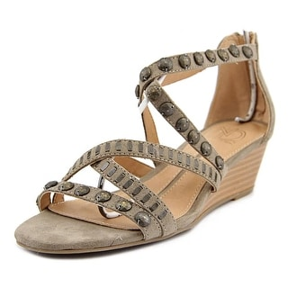New Directions Bianca   Open Toe Faux Leather  Wedge Sandal