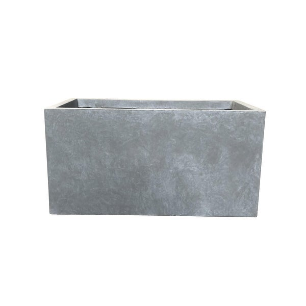Kante Lightweight Concrete Outdoor Slate Gray Large Planter. Opens flyout.