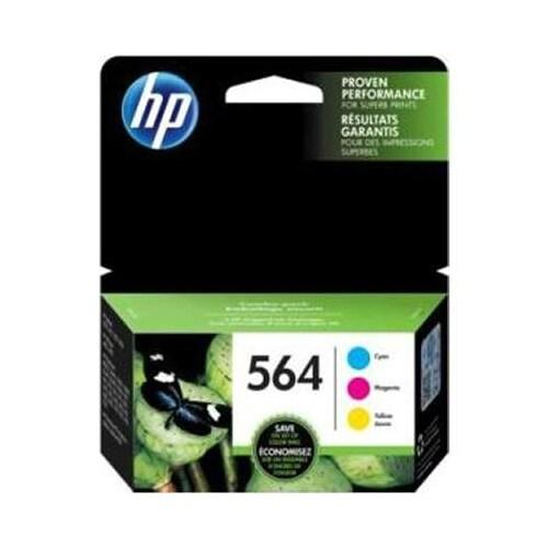 HP 3-pack Cyan/Magenta/Yellow Original Ink Cartridges (Single Pack) Original Ink Cartridge