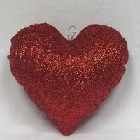 "36"" Sparkly Red Inflatable Tinsel Heart Commercial Christmas Ornament"