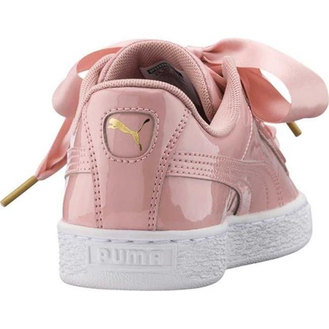 online retailer 34644 45f73 PUMA Women's Basket Heart Patent Sneaker Peach Beige/Peach Beige