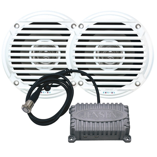 """JENSEN CPM50 Bluetooth Amplifier Package w/JAHD240BT 80W, 2-Channel Bluetooth Amplifier & MS5006 5"""" Speakers"""