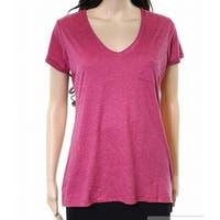 Alternative Sangria Heather Womens V-Neck T-Shirt Top