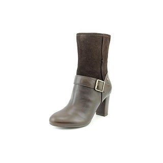 Hush Puppies Dakota Sisany Round Toe Leather Mid Calf Boot