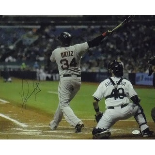David Ortiz Autographed Boston Red Sox 16x20 Photo JSA