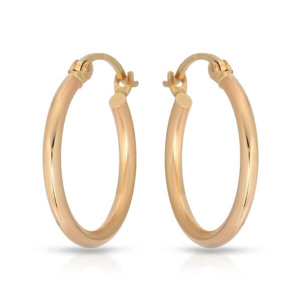 Mcs Jewelry Inc 14 KARAT YELLOW GOLD CLASSIC HOOP EARRINGS 20MM