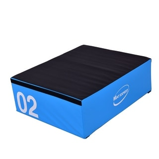 Costway 12'' PVC Soft Foam Jumping Box Plyometric Exercise Fitness Blue