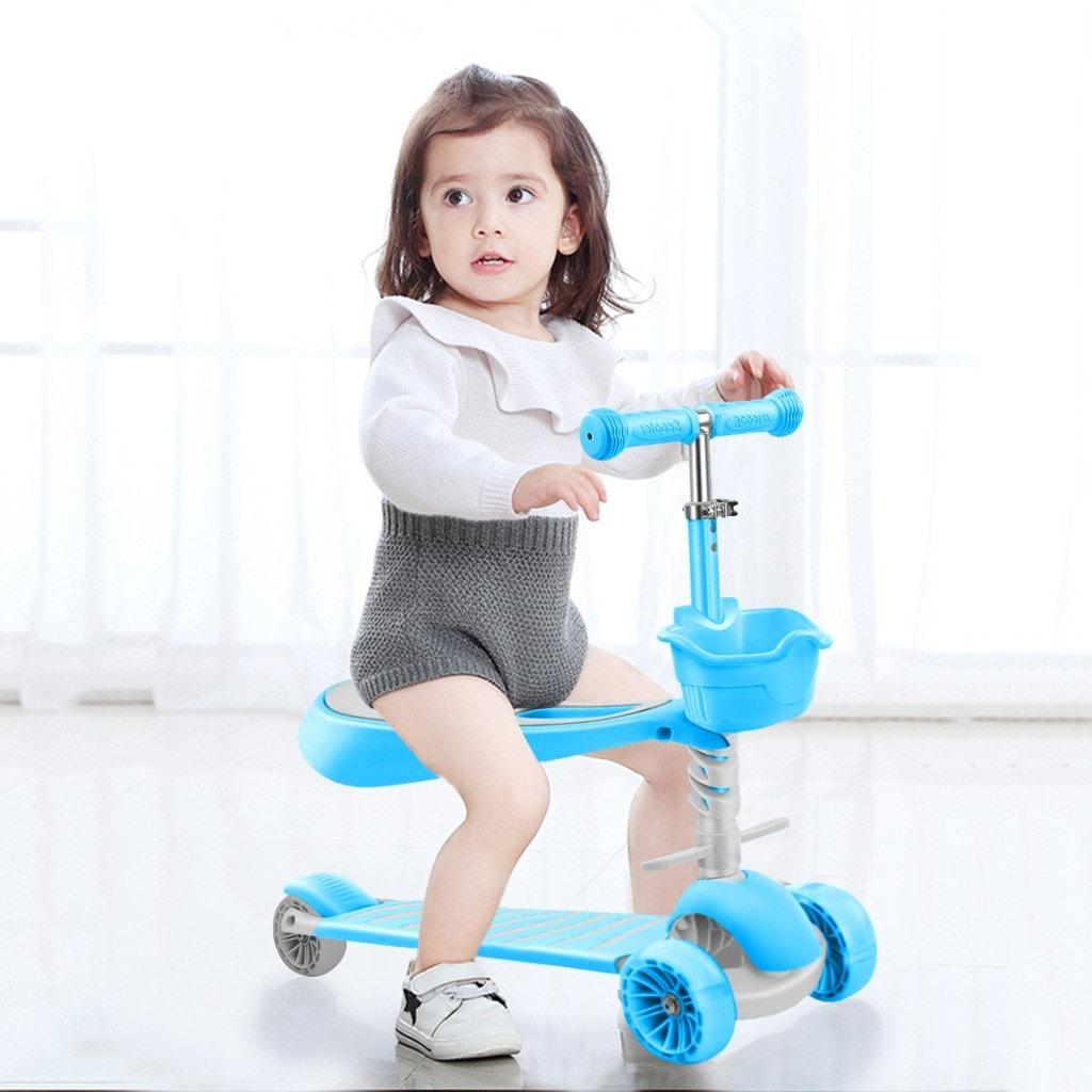 Kick Scooter Kids 3 Wheel Scooter Basket Up Wheels Adjustable Height 27x9x30 Inch Overstock 32574604