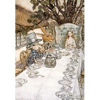 Alice in Wonderland Tea Party Rackhaw 1907 (Art Print - Multiple Sizes)