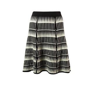 Studio M Women's Intarsia Knit A-Line Skirt - windpane