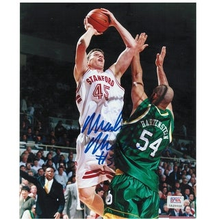 Mark Madsen Stanford University Autographed 8x10 Photo. This item comes with a COA from PSA/DNA.