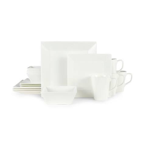 Mikasa Delray Square Bone China 16-piece Dinnerware Set (Service for 4)