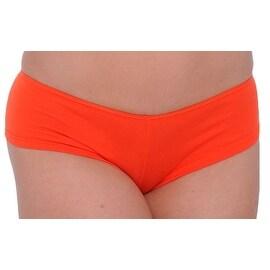 Women's Basic Orange Booty Hot Boy Shorts Panties Sexy Hipster Underwear
