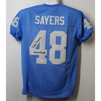 Gale Sayers Autographed Kansas Jayhawks Size XL Jersey Kansas Comet JSA