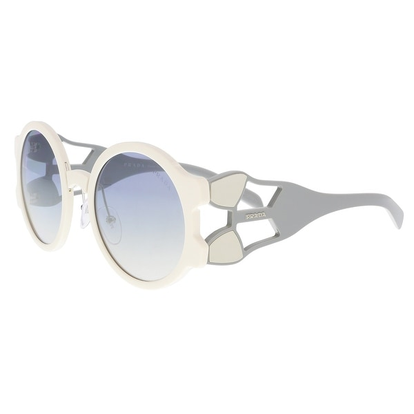 67ebae5610 Shop Prada PR 13US YEB5R0 Ivory Round Sunglasses - 54-24-140 - Free ...