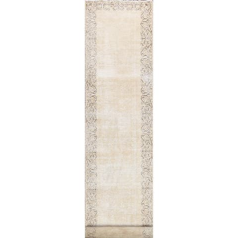 """CLEARANCE Antique Muted Tabriz Persian Distressed Runner Rug Handmade - 2'9"""" x 14'11"""""""