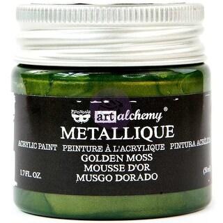 Finnabair Art Alchemy Acrylic Paint 1.7 Fluid Ounces-Metallique Golden Moss