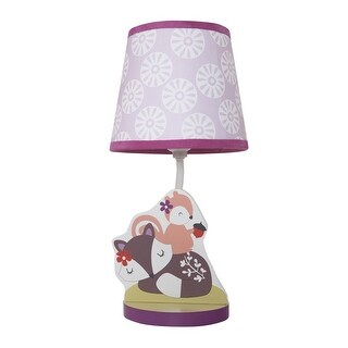 Bedtime Originals Purple Lavender Woods Lamp with Shade & Bulb