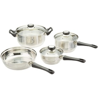 Culinary Edge 02207 Stainless Steel 7-Piece Cookware Set