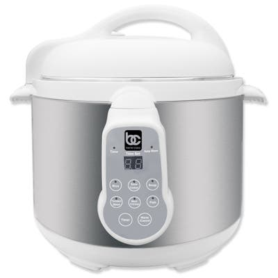 Bene Casa 900W 4L Electric Pressure Cooker Stainless Steel, easy to use digital controls, multi-function