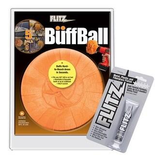 Flitz Buff Ball - Large 5 Inch Buff Ball Large Orange 5 Inch