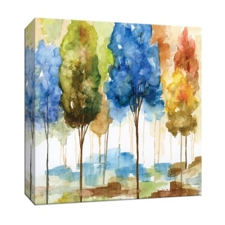 "PTM Images 9-147365  PTM Canvas Collection 12"" x 12"" - ""Magical Forest II"" Giclee Trees Art Print on Canvas"