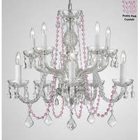 Crystal Chandelier With Pink Crystals