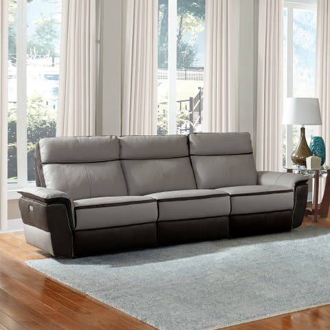 Barberton Leather Power Double Reclining Sofa