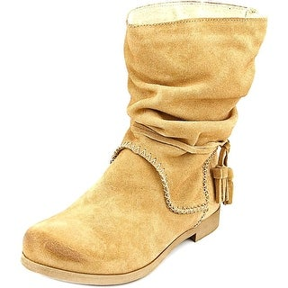 Coolway Noreen Women Round Toe Suede Mid Calf Boot